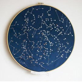 littlebrightstudio - Constellations of the Northern Hemisphere Wall hanging