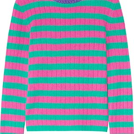 Gucci - Metallic-trimmed striped cashmere and wool-blend sweater