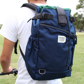 FREDRIK PACKERS - STROLL BACKPACK(S) NAVY x FOREST