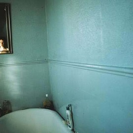 nan goldin - Self Portrait in Blue Bathroom, London 1980