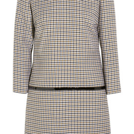 Bouchra Jarrar - FW2014 Sherlock patent-trimmed wool-tweed mini dress