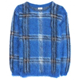 Saint Laurent Paris - MOHAIR-BLEND PLAID SWEATER