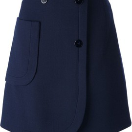 CARVEN - double crepe skirt