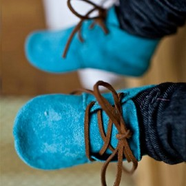 Gracious May - Spunky Blue Suede Shoes