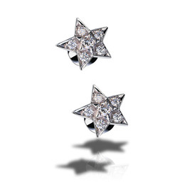CHANEL - Comète Earrings in 18K white gold and diamonds. Medium version.