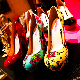 BETSEY JOHNSON - printed with tattoo graphics.