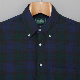 Gitman Vintage - Button-Down Collar Shirt, Blackwatch Plaid Cotton Hopsack