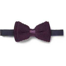 Lanvin - Lanvin New Alber Knitted Silk Bow Tie