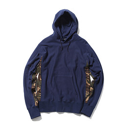 SOPHNET. - CAMOUFLAGE SIDE PANEL PULL OVER SWEAT PARKA