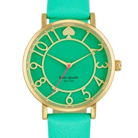 Kate Spade - Metro Round Leather Strap Watch