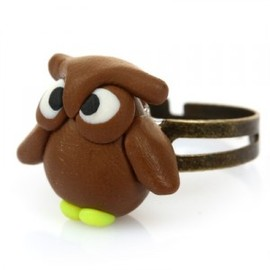 hallomall - Handmade Fimo Owl Rings For Women