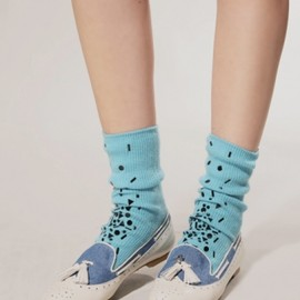 bebaroque - Sparkle blue cashmere socks