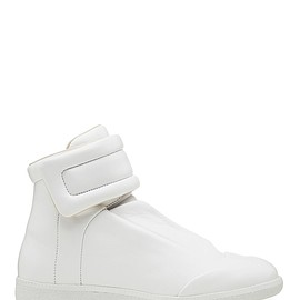 Maison Martin Margiela - velcro strap white leather high top sneaker