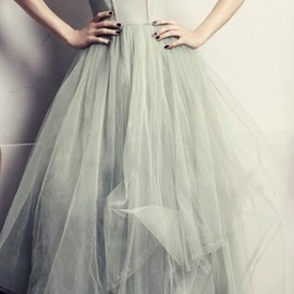 H & M - Mint tulle gown / H & M concious collection