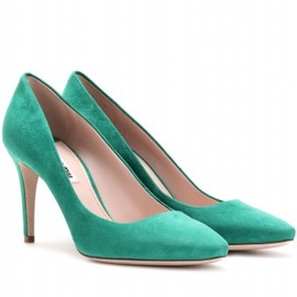 miu miu - SUEDE PUMPS