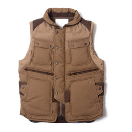 White Mountaineering - Cotton Cloth Luggage Down Vest