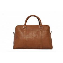 SANDQVIST, on Monsieur Marcel - Sac Weekend John Cuir  Marron