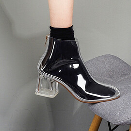 Claire - clear heel  boots k038 | Claire