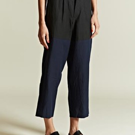 Sunsea - Contrast Colour Linen Trousers
