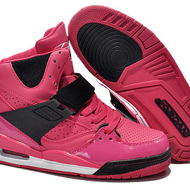 NIKE - Cheap Nike Air Jordan Flight 45 High Women Shoes Pink Black