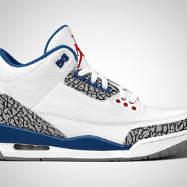 NIKE - Air-Jordan-III-Retro-'True-Blue'-Sneakers