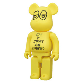 MEDICOM TOY - BE@RBRICK KROOKED SKATEBOARDS by Mark Gonzales 400%
