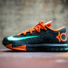 Nike - NIKE KD VI BLACK/GREEN GLOW-URBAN ORANGE