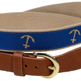 Preston Leather Lighthouse Belt Blue
