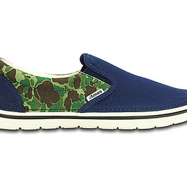 crocs - crocs norlin atmos camo slip-on blue / white