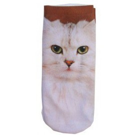 ANKLE SOCKS PHOTO PRINT - CAT PRINT ANKLE SOCKS by TOKYO HARDCORE