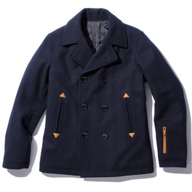 SOPHNET. - WOOL MELTON PEA COAT