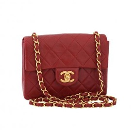 CHANEL - CHANEL VINTAGE RED SHOULDER