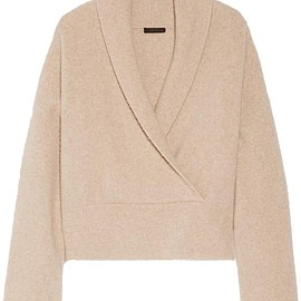 The Row - Fontaine wrap-effect brushed cashmere-blend sweater