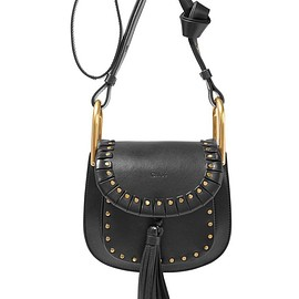 Chloé - Hudson mini studded textured-leather shoulder bag