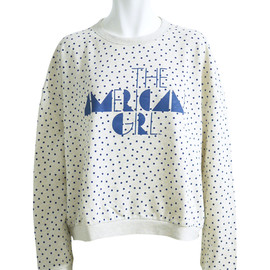 KAREN WALKER - COLLEGE SWEATSHIRTING DOT