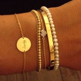 "I want a bracelet like that with ""Reese"" engraved. Beautiful."