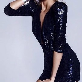 Little Black Sequined Dress / luv it...