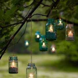 #outdoor jar lanterns