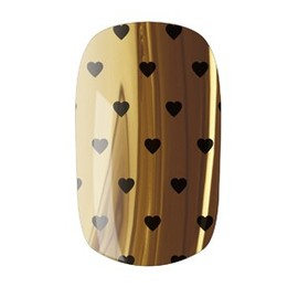NAIL ROCK - Nail Rock Nail Wrap - Hearts Black on Gold