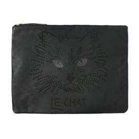 GALERIE DES BAINS - actuel select(アクチュエル セレクト)の【GALERIE DES BAINS】LE CHAT clutch(クラッチバッグ)|ブラック