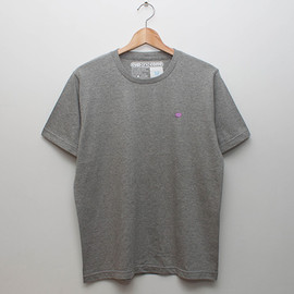 cup and cone - Embroidery Tee - Grey x Grape