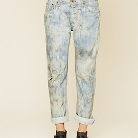 Free People - Oil Stained Boyfriend Jean