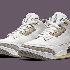 NIKE, A Ma Maniére, Jordan Brand - Air Jordan 3 Retro SP - White/Medium Grey/Violet Ore/White