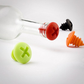 OTOTO Design - Bottle Screws Silicone Wine Bottle Stoppers
