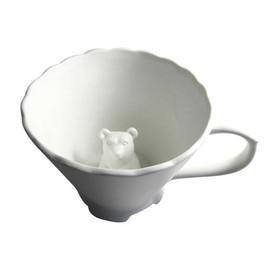 imm living - Hidden Animal Teacup- Bear by Imm Living