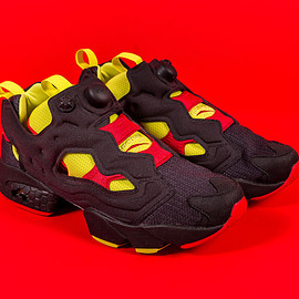 Reebok, Packer Shoes - InstaPump Fury - Black/Hyper Green/Red