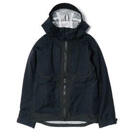 White Mountaineering - BLK GORE-TEX® Nylon Twill No Stitch Mountain Parka