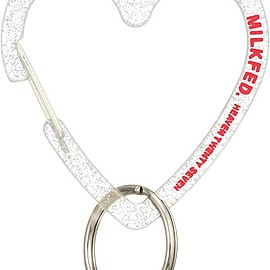 MILKFED. - [ミルクフェド] N HEART CARABINER 3191061 CLEAR One Size