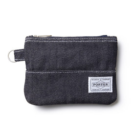 "HEAD PORTER - ""DENIM"" ZIP WALLET"