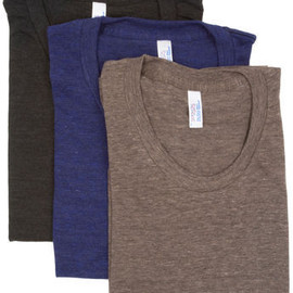 American Apparel - Tri-Blend Short Sleeve Women's Track T in Coffee, Indigo and Black